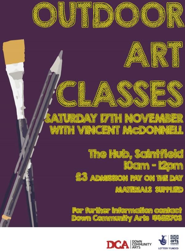 Outdoor Art Class poster