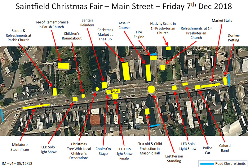 Saintfield Christmas Fair - Street Plan